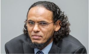 Al Mahdi at ICC trial Image Source: http://www.telegraph.co.uk/news/2016/08/22/extremist-pleads-guilty-to-terror-attack-on-timbuktus-mausoleums/