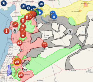 Map of War in Syria