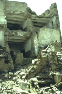 Depiction of Destroyed Traditional Housing in the Old City of Sana'a Due to Poor Infrastructure http://web.mit.edu/akpia/www/AKPsite/4.239/sanaa/Fig3.jpg