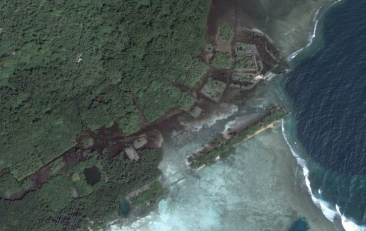 An aerial view of Nan Modal via Google Maps