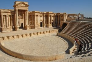 Palmyra' anceint Amphitheatre still standing. Image Source: http://www.livius.org/site/assets/files/10156/palmyra_theater5_ab.jpg